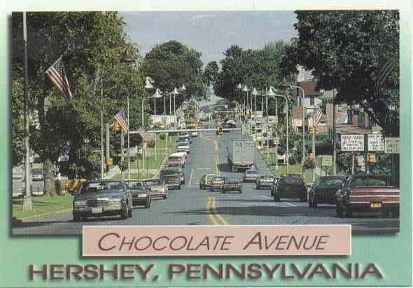 Hershey, Pennsylvania  The street lights are shaped like Hershey Kisses.