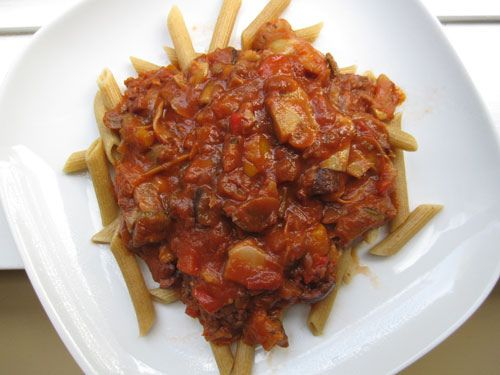 Roasted Vegetable Tomato Sauce on Penne | U are what U Eat...Im Fat ...