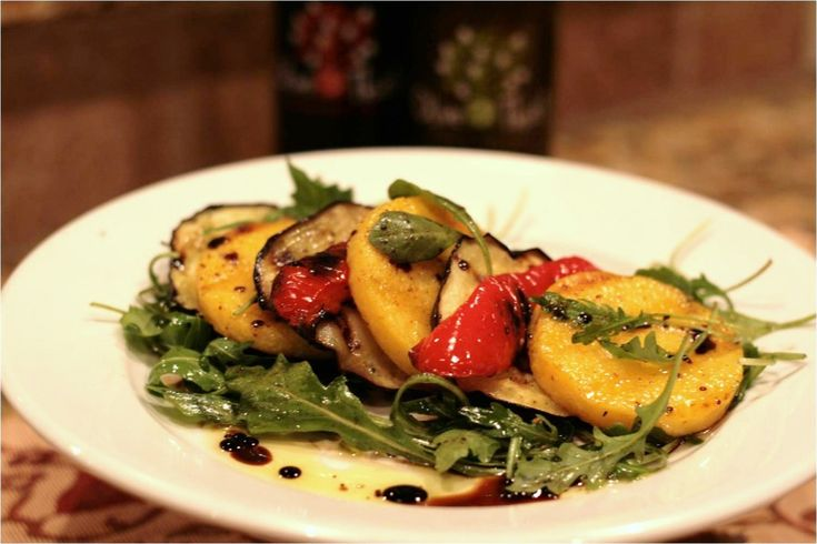 Recipe: Grilled Polenta and Eggplant with Wild Mushroom and Sage EVOO ...