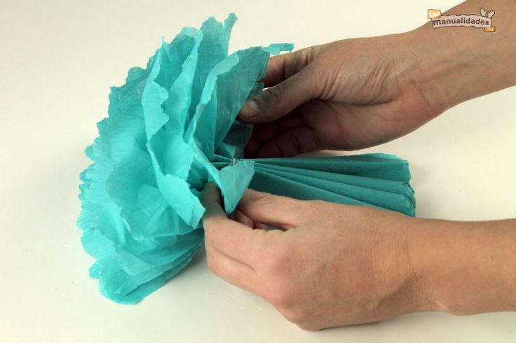 Cómo hacer flores de papel de seda