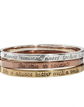 love what these bangles have to say!