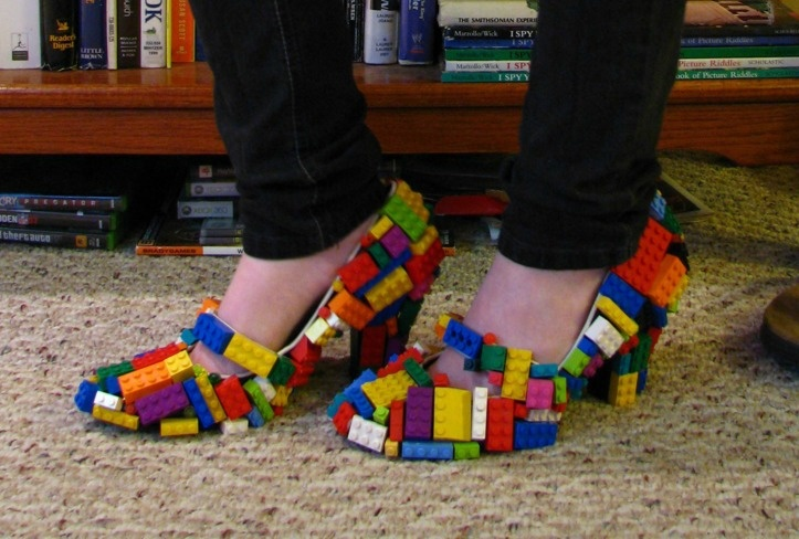 Lego Shoes - love it.