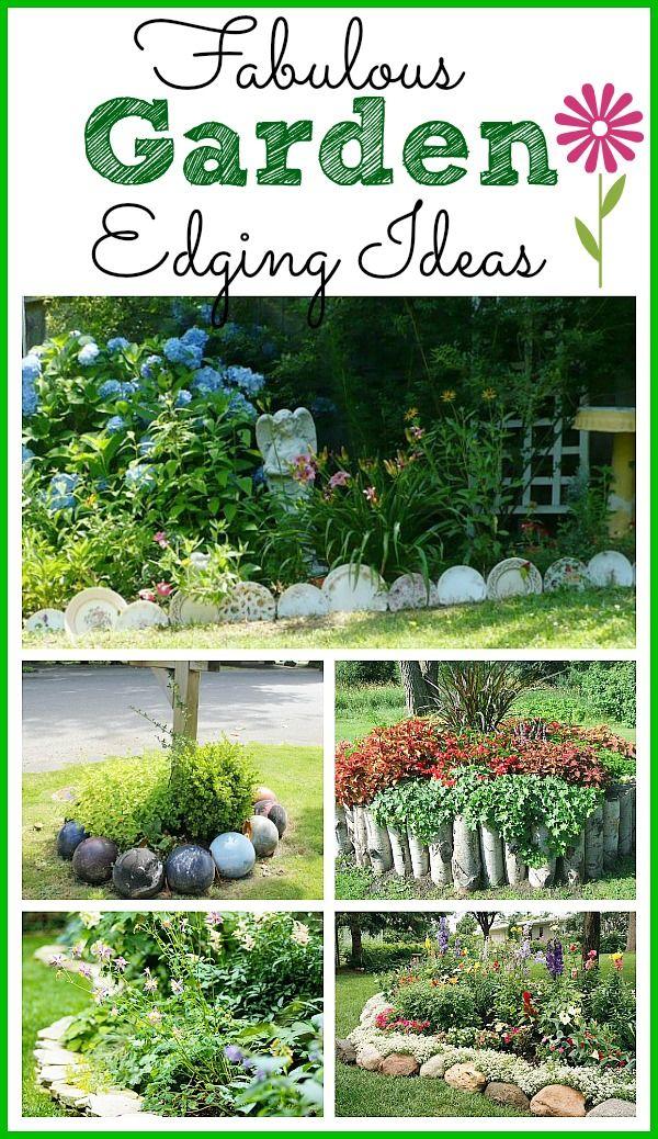 Fabulous garden edging ideas outdoorsiness pinterest for Garden border ideas