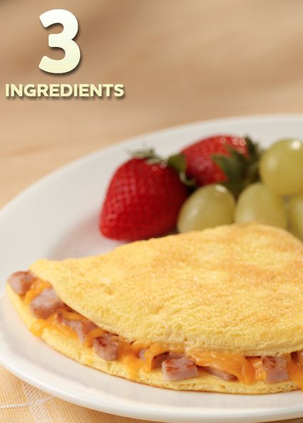 Canadian Bacon and Cheddar Cheese Omelet… Start your day off right ...