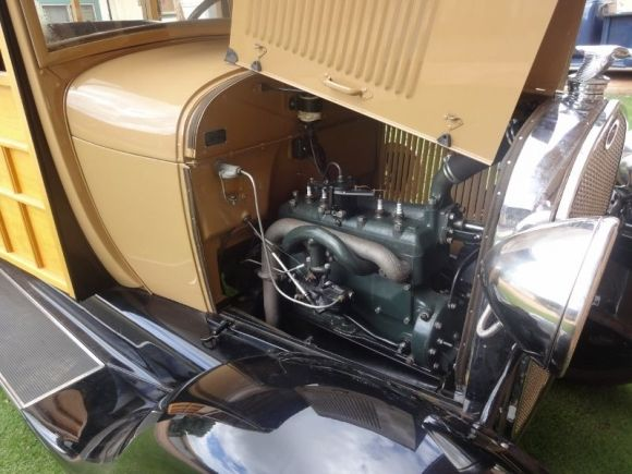 1929 Ford Model A Woody Wagon Engine