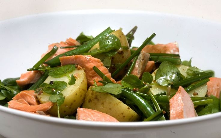 Speedy weeknight suppers: warm salmon and green bean salad recipe ...