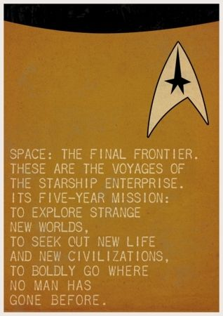Movie Quote Posters by Ewan Arnolda - Spock and Captain Kirk (Star Trek) #moviequotes #moviequoteposters