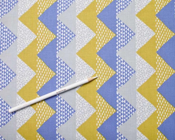 Quilt Blocks - Metro Geometric Stripe Flying Geese - grey by Ellen Luckett Baker from Moda - 1 Yard. $9.50, via Etsy.