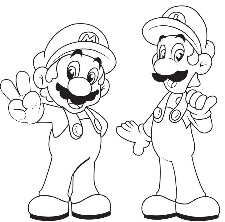 Luigi Mansion Coloring Pages