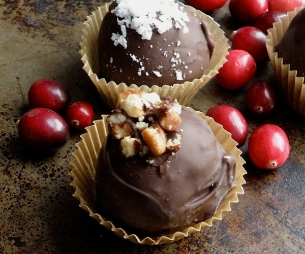 ... covered cranberry truffles are the perfect last-minute holiday treat