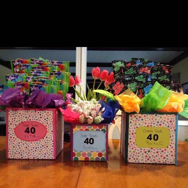 Sweet treat idea I created and made for Jenn's 40th Birthday. It says ...