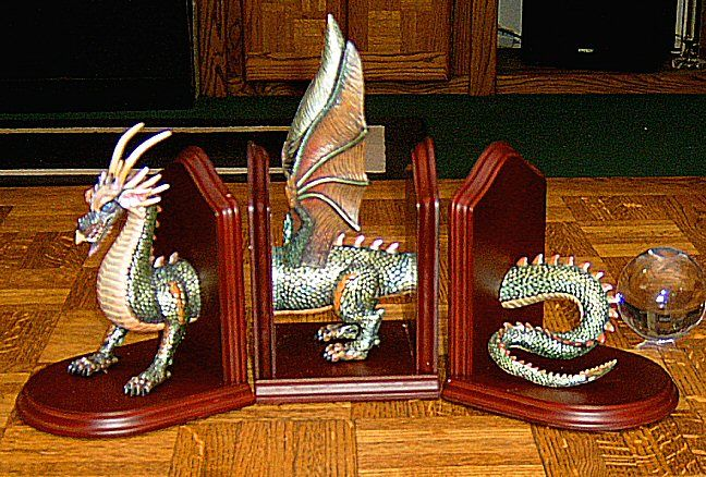 3 piece dragon book ends all things fae pinterest - Dragon bookend ...