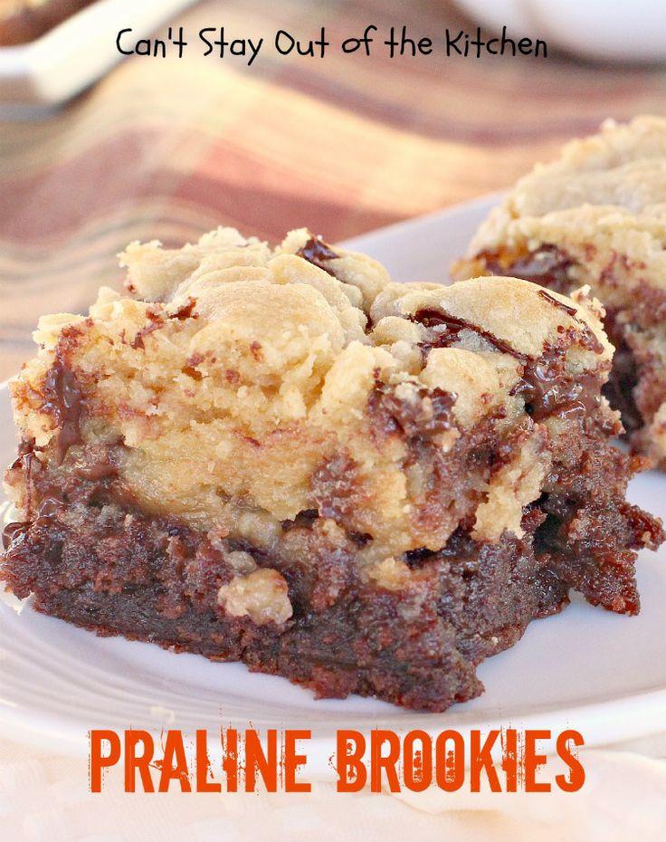 Praline Brookies | Cakes-Candy-Cookies | Pinterest