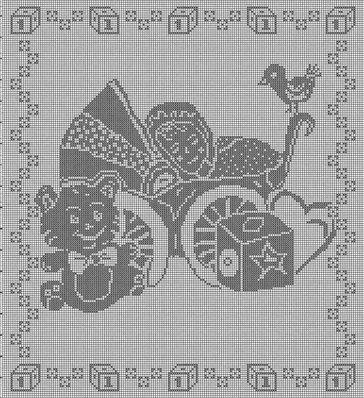 Филейное вязание картины 21
