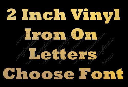 gold foil name custom heat transfer iron on personalized vinyl ebay