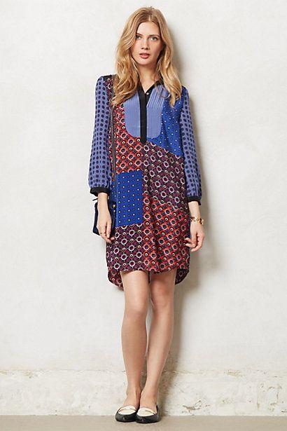 Foulard Silk Shirtdress #anthropologie
