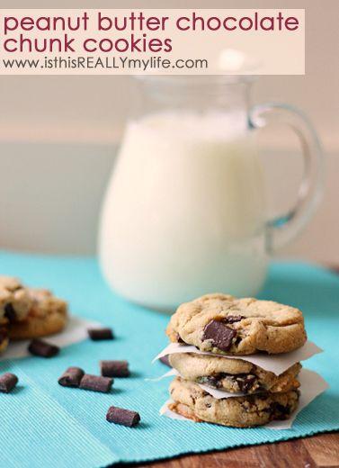 Peanut Butter Chocolate Chunk Cookies | Recipe