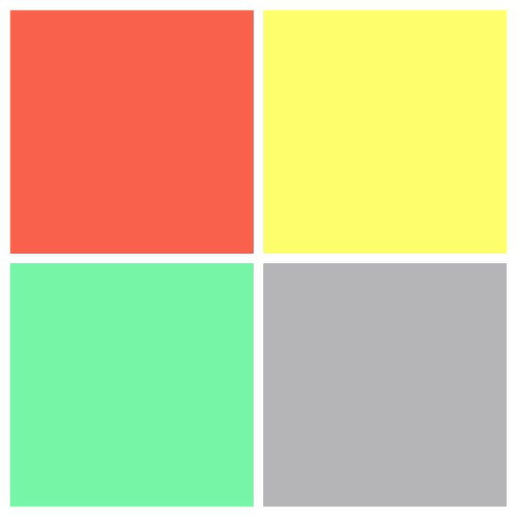Coral, yellow, teal, and gray color scheme | For the home | Pinterest