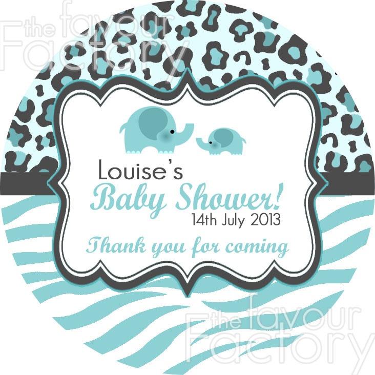 blue safari baby shower stickers baby shower pinterest