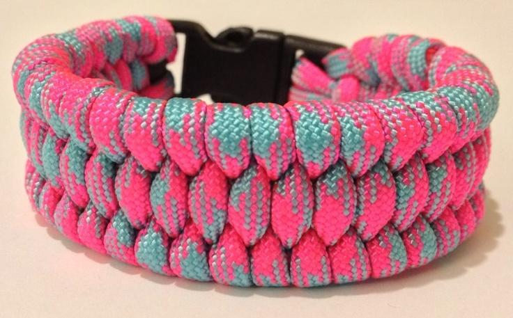 Basket Weave Paracord Bracelet Tutorial : Basket weave wide paracord bracelet ties