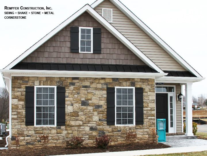Pin by rempfer construction inc on rempfer construction Vinyl siding that looks like stone