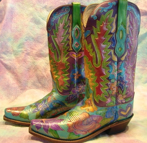 New Buy Designer Hand Painted Leather Cowboy Boots For Men, Made From Genuine Calfskin Leather With Beautiful Hand Painted Patterns These Shoes Are Patented And Limited Edition, We Also Offer Custommade Service And Free Shipping