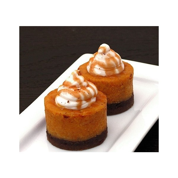 Spiced Pumpkin Cheesecake with Bourbon Whip Cream liked on ...