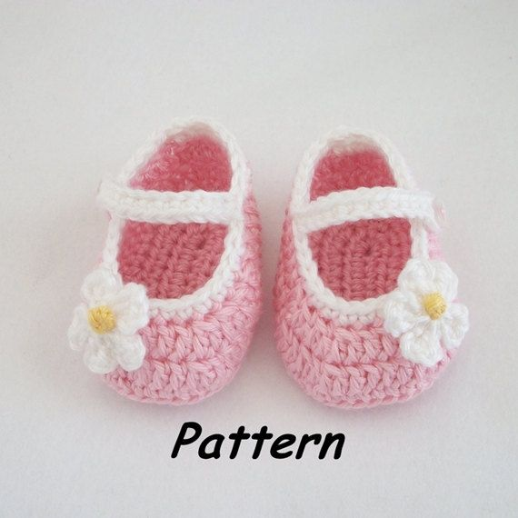Free Crochet Pattern Baby Mary Jane Shoes : Instant Download to PDF Crochet PATTERN: Basic Mary Jane ...