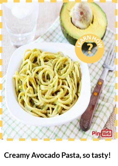 This delicious Creamy Avocado Pasta can be on your table in 15 minutes ...