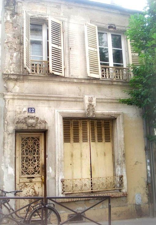 ✕ Loveliness in Paris…  ♕ Rue Levert, by chicsochic & via ysvoice / #paris #facade #architecture