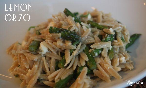 Lemon Orzo Salad With Asparagus, Spinach, And Feta Recipes ...