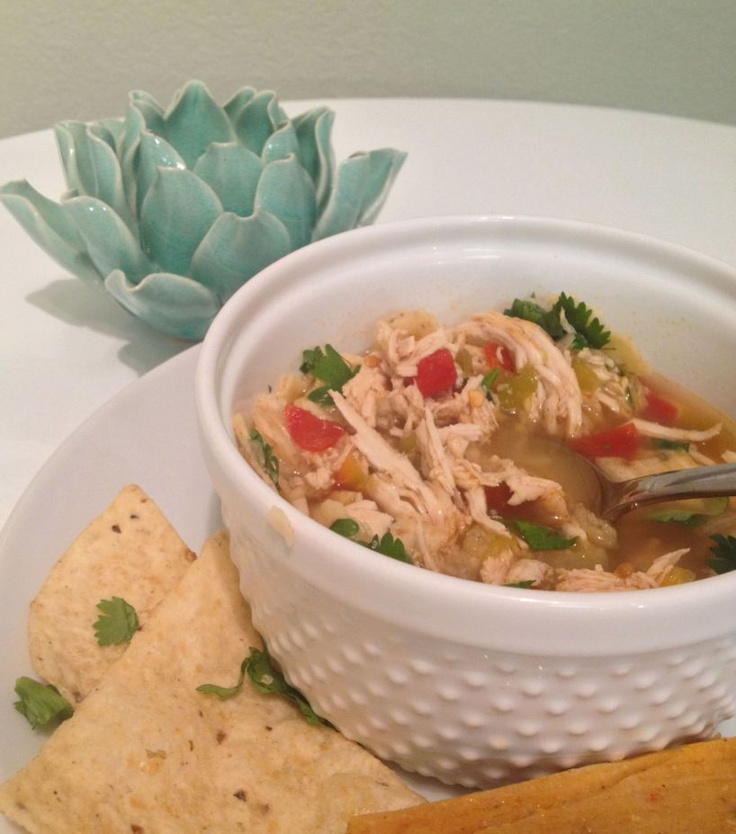 Green Chili Chicken And Lime Soup Recipe — Dishmaps