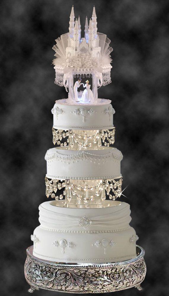 Cinderella Castle Royal Wedding Cake Topper Prince Charming