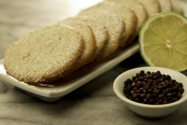 Holiday cookies: Lime and black pepper cookies