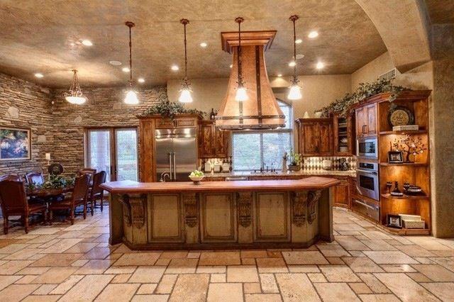 Rustic open concept dream kitchens pinterest for Classic house design concepts
