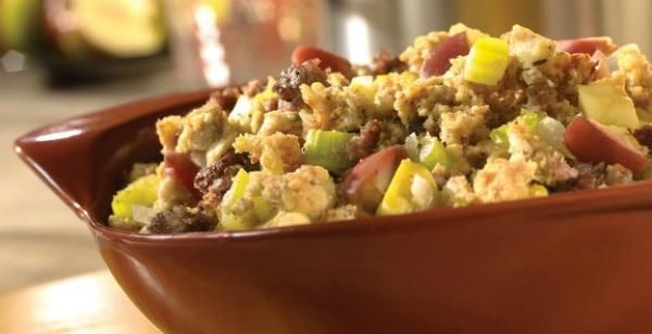 Sausage Apple Stuffing | KitchenDaily.com