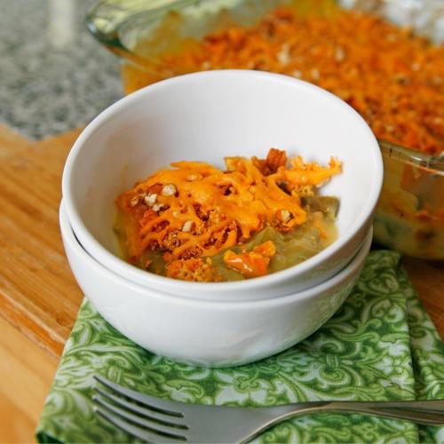 Triple Cheddar Green Bean Casserole | Recipe