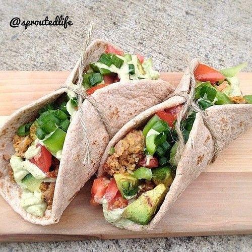 Vegan tacos | Delizioso | Pinterest