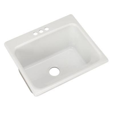 Drop In Laundry Sink : ... Drop-in Acrylic 25x22x12 in. 3-Hole Single Bowl Utility Sink in White
