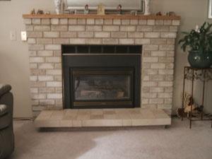 Refinish The Brick Fireplace Home Pinterest