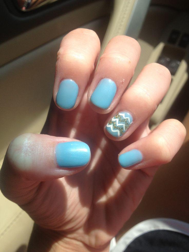Blue shellac nails | Nails | Pinterest