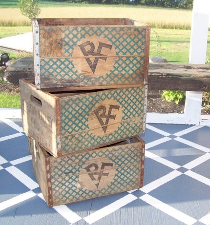 decorate with old milk crates crates pinterest