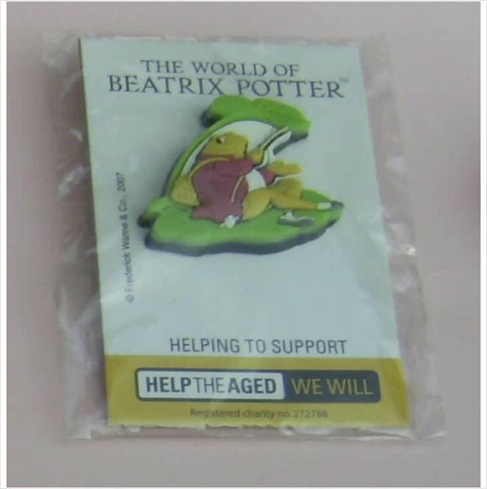 Beatrix Potter Jeremy Fisher Frog Rubber Pin Badge New/Sealed on eBid