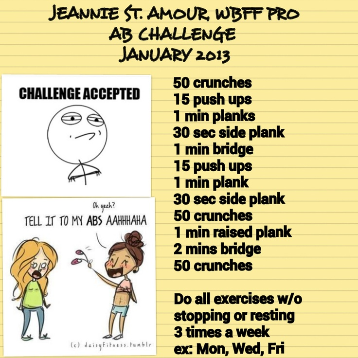 My created AB #Challenge for January #2013! #abs #fitness #workout ...