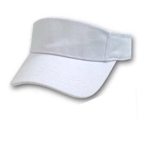 Blank White Adjustable Visor
