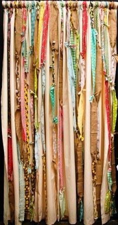 Fabric strips curtain diy to do list pinterest