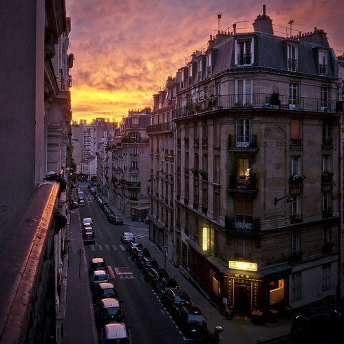 Sunset in Paris. #getinspired