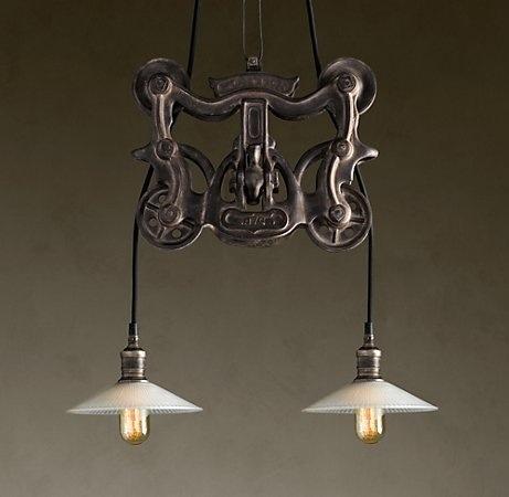 restoration hardware pulley light cabin pinterest. Black Bedroom Furniture Sets. Home Design Ideas