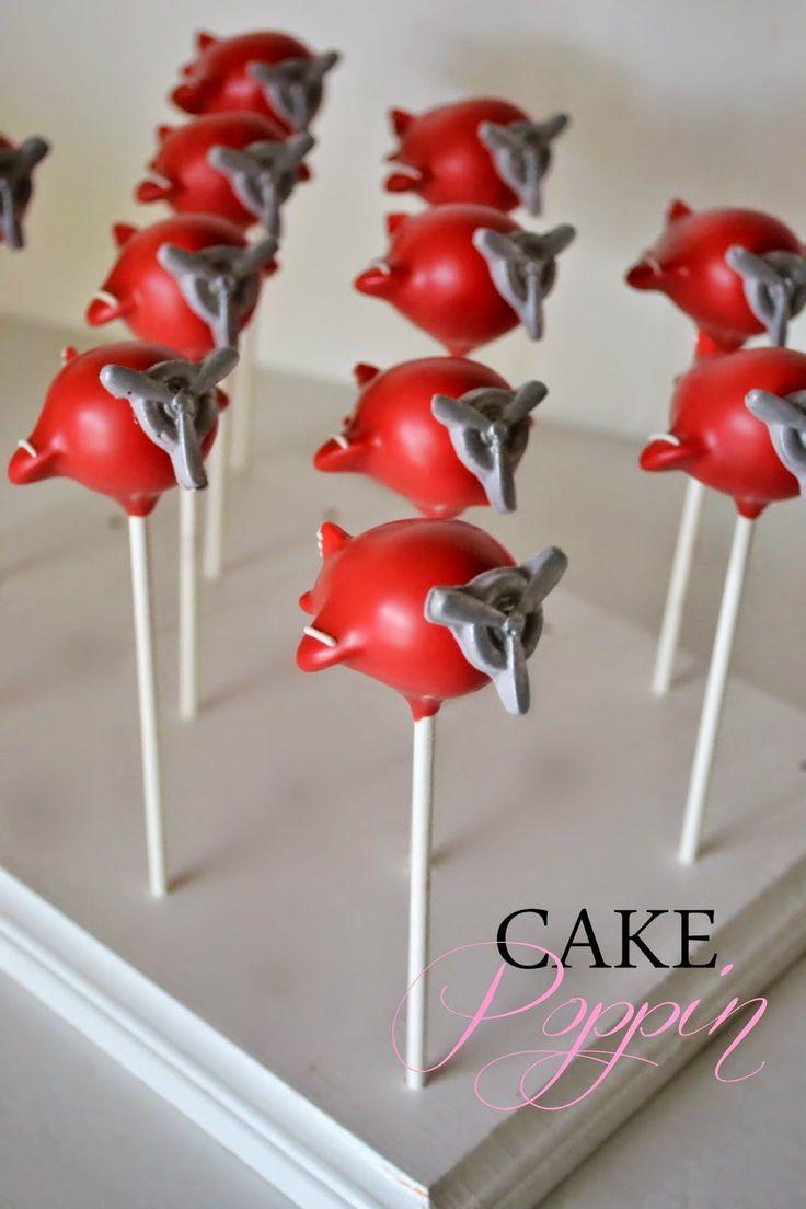 airplane cake pops