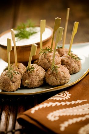 Paula Deen Easy Lamb Meatballs with Cucumber Dill Dipping Sauce